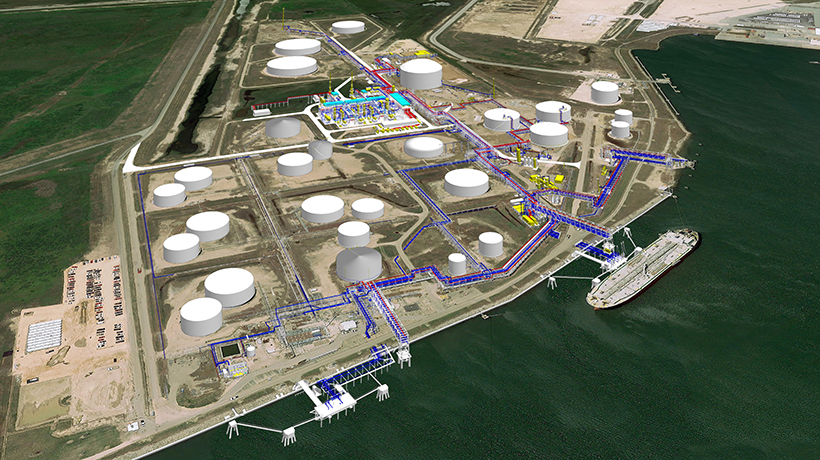export terminal, image created with PDS, Intergraph Smart 3D, SmartPlant Interop Publisher, and SmartPlant Review.